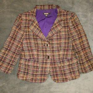DKNY womens  tweed wool blazer